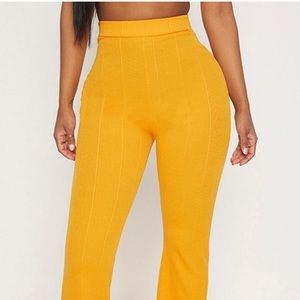 Orange Bandage Wide Leg Trousers